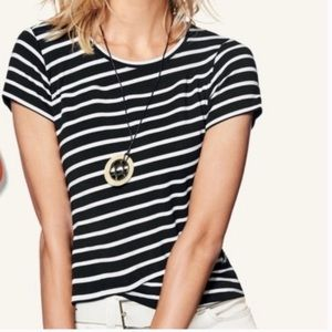 Cabi Stripe Crop Top